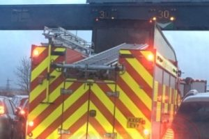 car fire causes long delays over dartford crossing