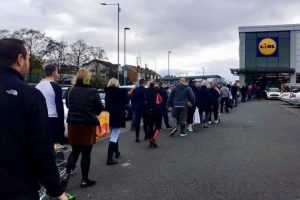 Foolish and silly people  of Westcliff join  the panic buying