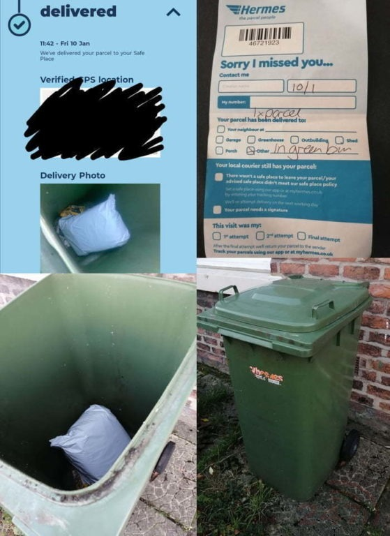 hermes bring in new measures of leaving parcels in safe places