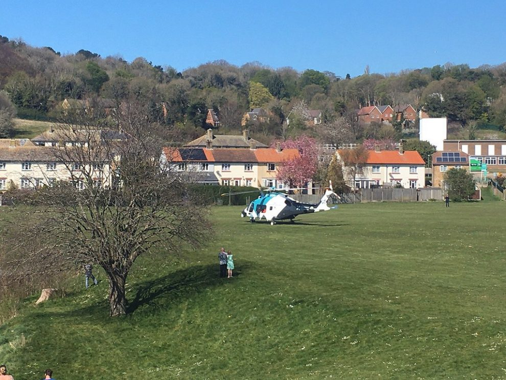 air ambulance called to dover after ladder fall