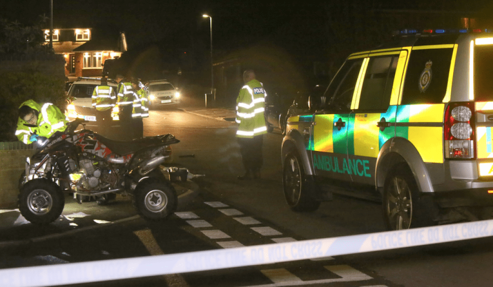 air ambulance called to sittingbourne collision involving quad bike