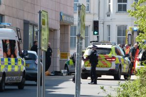 air ambulance called to woman who has fallen from first floor car park at asda in folkstone
