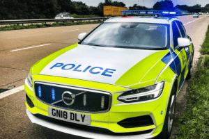 an arrest has been made following a pursuit which saw a police car damaged in margate