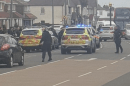 armed police carry out stop on a vehicle in belvedere