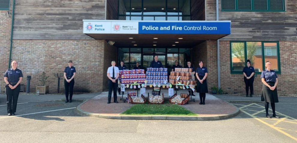 control room staff donate easter eggs to nhs workers