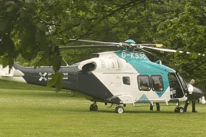 kent and sussex air ambulance called to bearsted