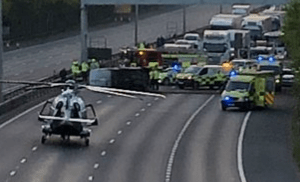 m20 motorway in kent closed after overturned vehicle 2