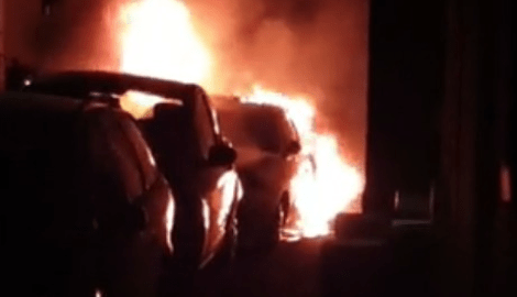 man arrested after 12 vehicles set alight in ramsgate