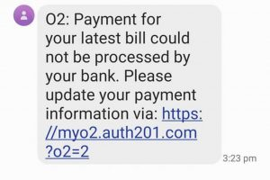 O2 mobile message scam to be aware of