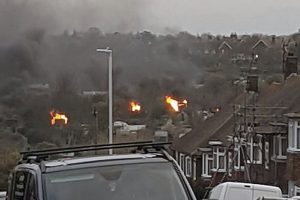 police hunt for arsonists after allotments torched