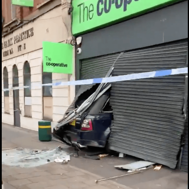 police launch probe after co op cashpoint ram raid in anerley