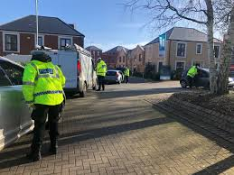 thirteen people have been stopped for speeding and other traffic offences by officers along a busy ashford road