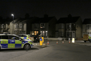 three arrested after double stabbing in swanscombe