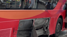 two arrested after vehicle makes off from police hitting a bus 1