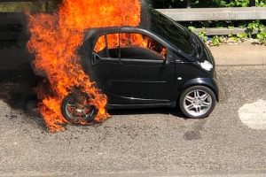 delays on the a2 near eltham after car is engulfed in flames