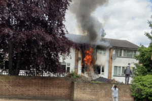 six fire engines and around 40 firefighters have been called to a house fire on beaulieu avenue in sydenham
