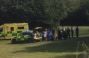 a man is fighting for his life after stabbing at the hoblingwell wood recreation ground in orpington