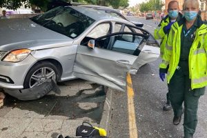 a man was arrested on suspicion of dangerous driving