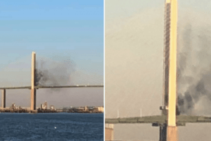 dartford bridge crossing closed after car bursts into flames 2