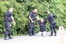 Dramatic moment Police pull taser on a man suspected of carrying a knife in Folkestone