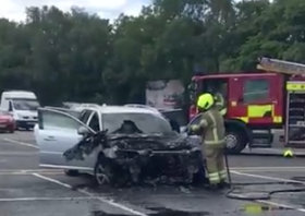 fire crews tackle blaze at medway services