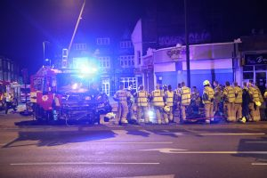 four fire fighter injured after million pound fire engine involved in collision in streatham 4