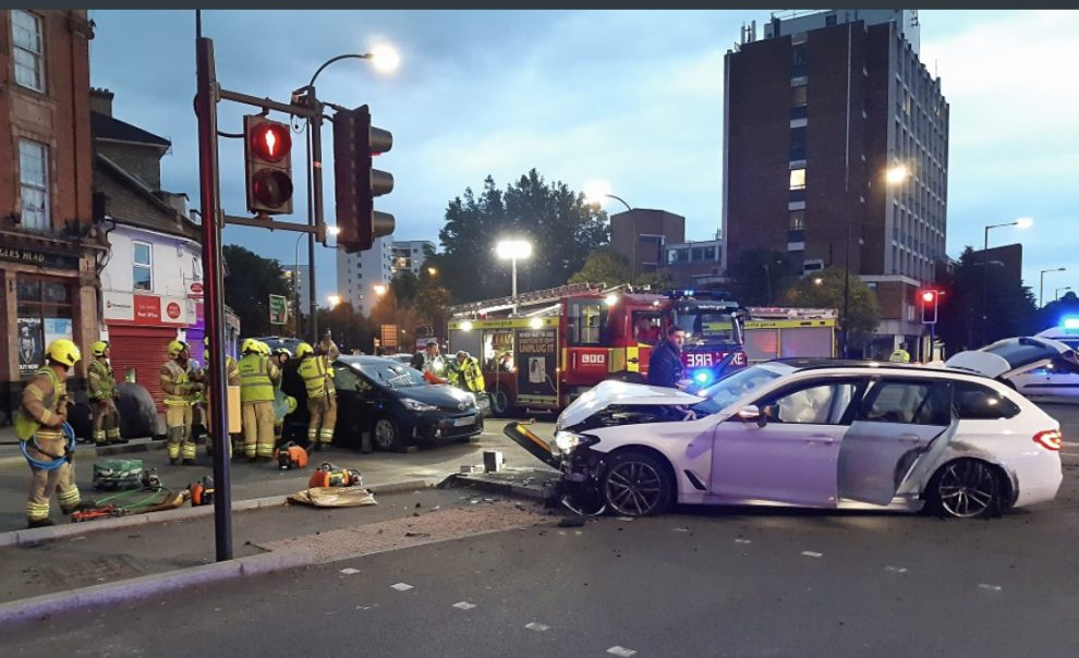 helicopter called in after lee collision