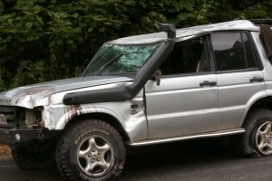 lucky escape after driver rolls landrover discovery on the m2 motorway near faversham