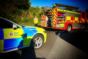 m2 motorway closed following overturned vehicle near faversham