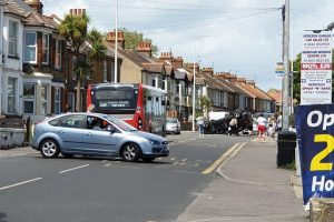 pensioners escape serious injury after vehicle roll over in ramsgate