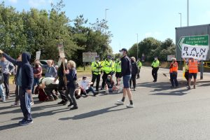 sit down protest at ramsgate port as live animal exports resume