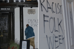 thanet campaigner ian driver has made claim that he attacked dickens house museum