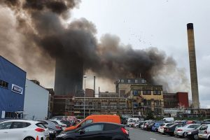 three people suffering from burns after erith explosion