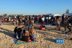 witnesses are being sought by officers after two men were assaulted during a beach party in leysdown