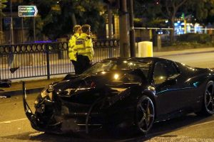 300000 ferrari f430 has been involved with a collision on the a2 old kent road 3