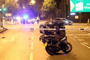 300000 ferrari f430 has been involved with a collision on the a2 old kent road