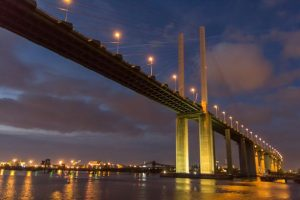 a cannabis cultivation has been found after three men were arrested at the dartford crossing