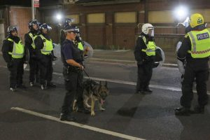 an investigation has begun following disorder at an unlicensed music event in hackney overnight