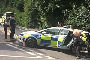 armed police arrest man in chatham following reports of a weapon