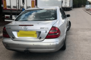 berk in a merc had seven people onboard when he was stopped with slicks on in sittingbourne
