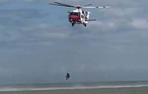 coastguard helicopter scrambled to two children swept out to sea in dymchurch