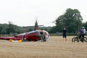 fire crews called to a helicopter crash in herne bay