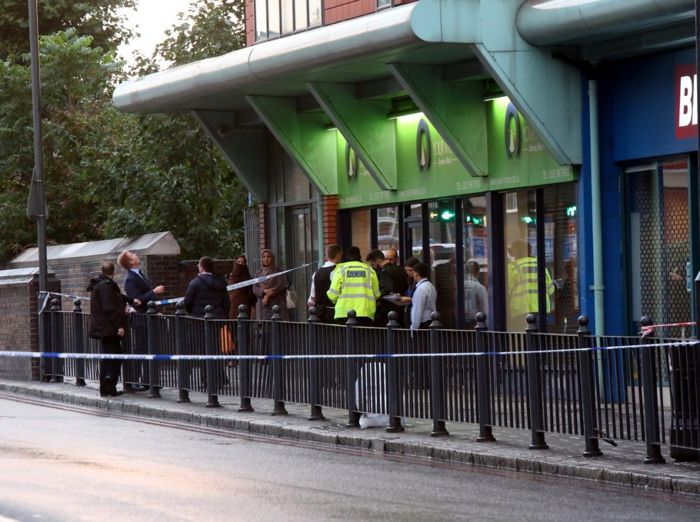 first pictures from scene after baby falls from height in east london