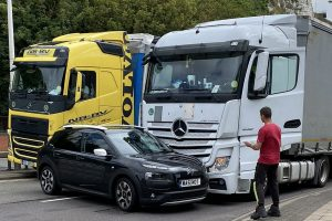 hgv driver questioned after being on his phone following lorry collision in dover