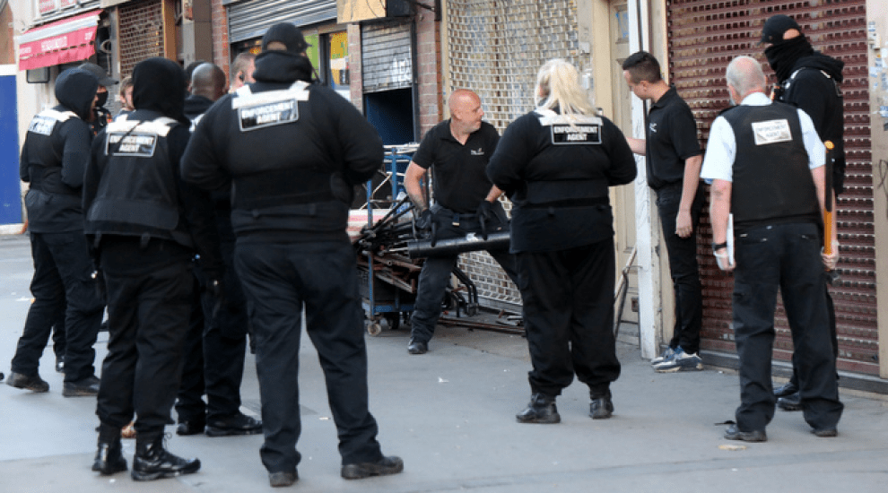 High Court bailiffs and police evict Mile End Road homeless squatters