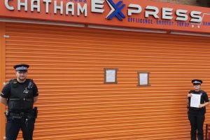 illegal tobacco sales and repeated incidents of antisocial behaviour have led to a chatham shop receiving a closure order
