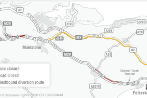 #M20 closed junction 11 to 9 westbound overnight from tonight until 25 July