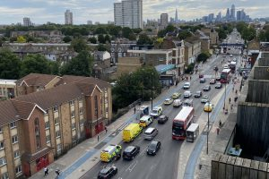 man with a machete goes on the rampage at bow church station