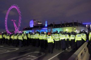 police make number of arrests of those believed to be responsible for instigating violence during recent protests and demonstrations in london