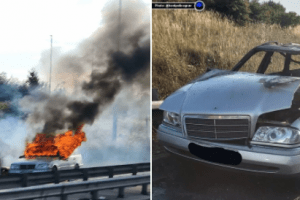 two arrested after a2 car fire in gravesend
